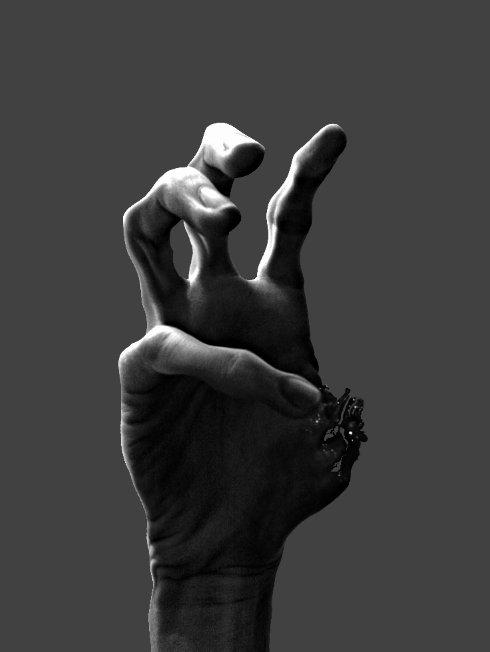 фото руки черно белое