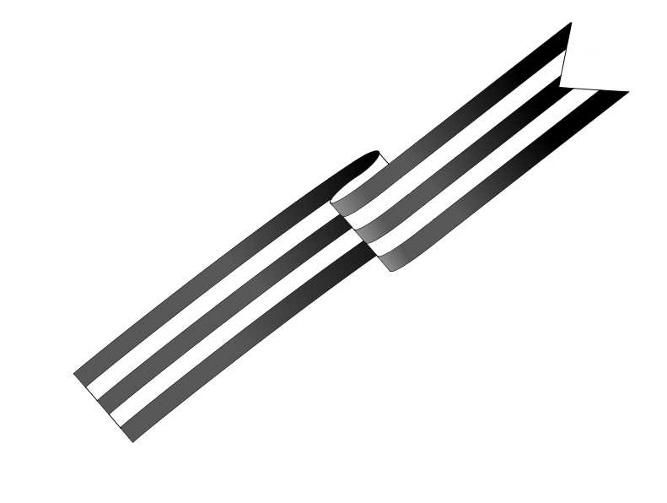 Как нарисовать георгиевскую ленту