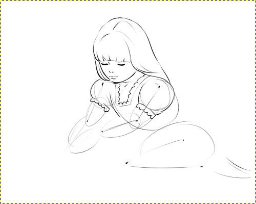как нарисовать девушку в купальнике:
